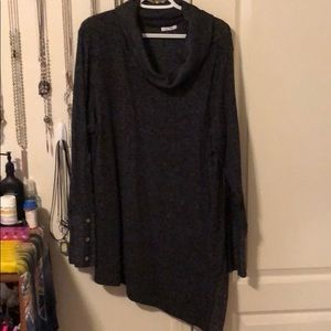 Maurices brand asymmetrical cowl neck sweater